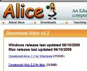 Alice 2.2 fue puesto a disposición el 10 de Junio de 2009