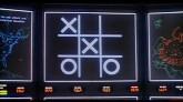 La computadora jugando Tic Tac Toe en la película War Games